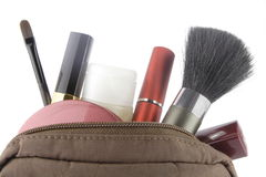 袋子化妆用品 免版税库存图片