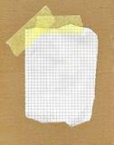 бумажная приданная квадратную форму часть сорванной Стоковые Изображения RF