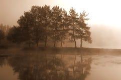 被迷惑的湖 免版税库存照片
