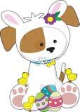 逗人喜爱的复活节小狗 免版税库存图片