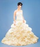 新新娘在工作室 免版税库存照片