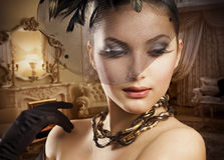 портрет красотки романтичный Стоковое фото RF