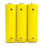 μπαταρίες που απομονώνονται Στοκ Φωτογραφία