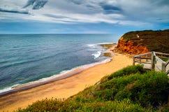风雨如磐的海滩 免版税库存图片