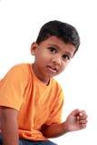逗人喜爱的印第安孩子 免版税库存图片