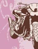 背景摩托车 免版税库存图片