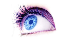 абстрактный голубой глаз Стоковое фото RF