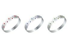 ασήμι δαχτυλιδιών Στοκ φωτογραφίες με δικαίωμα ελεύθερης χρήσης