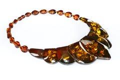янтарное ожерелье Стоковые Изображения RF
