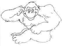 猿 库存例证
