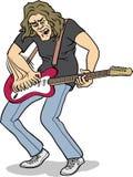 吉他大量球员岩石 免版税库存图片