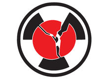 危险核的日本 免版税库存图片
