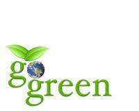 πηγαίνετε πράσινος Στοκ Εικόνες