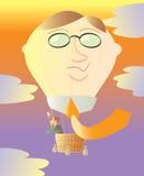 热气球的题头 免版税库存照片