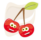 вишни счастливые Стоковое Изображение