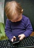 девушка центра телефонного обслуживания младенца Стоковые Фотографии RF