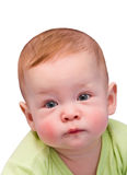 可爱的婴孩明亮的特写镜头纵向 免版税库存图片