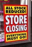 заключительный магазин плаката Стоковое фото RF
