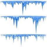 蓝色冰柱 免版税图库摄影