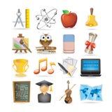 被设置的教育图标 免版税库存照片