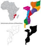 карта Мозамбик Стоковое Изображение RF