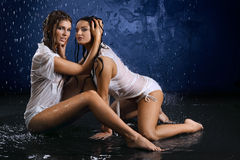 точные девушки Стоковые Изображения RF