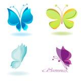 蝴蝶向量 免版税库存照片
