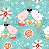 花卉恋人鼠标模式 免版税图库摄影