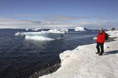 南极洲海岛舍德兰群岛南游人 免版税库存图片