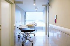 走廊医院内部 免版税库存照片