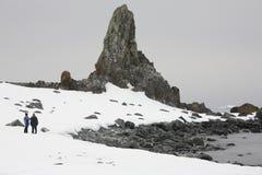 冒险南极洲游人 免版税图库摄影
