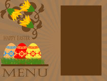 概念复活节菜单 免版税图库摄影