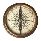 古色古香的指南针 免版税库存照片