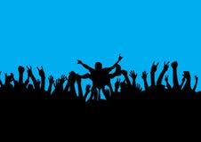 прибой утеса толпы Стоковые Изображения RF