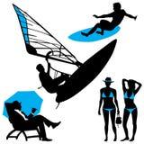люди пляжа несколько Стоковая Фотография RF