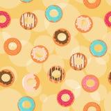 无缝背景的油炸圈饼 图库摄影