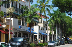 佛罗里达那不勒斯街道视图 免版税库存照片