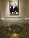图书馆总统里根・罗纳德 免版税库存图片