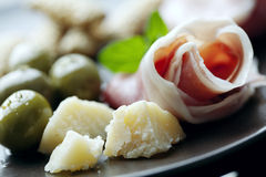 意大利语的开胃小菜 库存照片