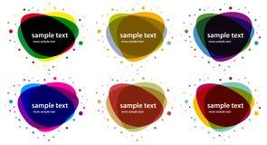 色的抽象横幅塑造向量 库存图片