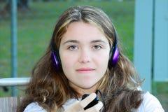 女孩音乐 库存图片