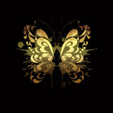 蝴蝶金子 库存图片