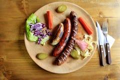 зажженный выбор сосисок Стоковые Фото