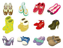 动画片图标鞋子 库存照片