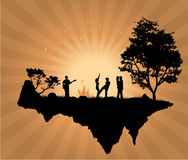 люди острова танцы Стоковое Изображение