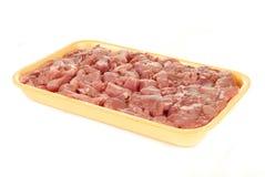 切成小方块的猪肉 免版税图库摄影