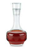 蒸馏瓶红色小的醋酒 库存照片