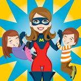 超级英雄的妈妈 免版税库存照片