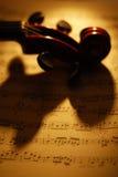 音乐小提琴 免版税库存照片