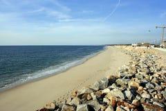 含沙的海滩 库存图片